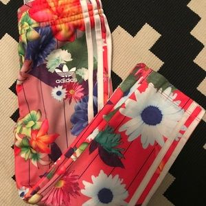 Adidas floral track suit